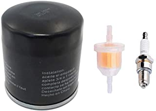 Swess Golf Cart Club Oil Filter Tune Up Kit Fuel Filter with Spark Plug for 1992-2004 Models with FE290 Kawasaki Motor