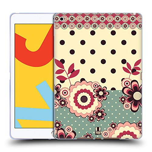 Head Case Designs Rosa Creme Blumen Und Punkte Soft Gel Handyhulle Hulle Huelle kompatibel mit Apple iPad 102 20192020