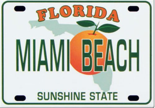 Miami Beach Florida Kennzeichen Collector'Souvenir s Fridge Magnet 6.35 cm X 8.89 cm