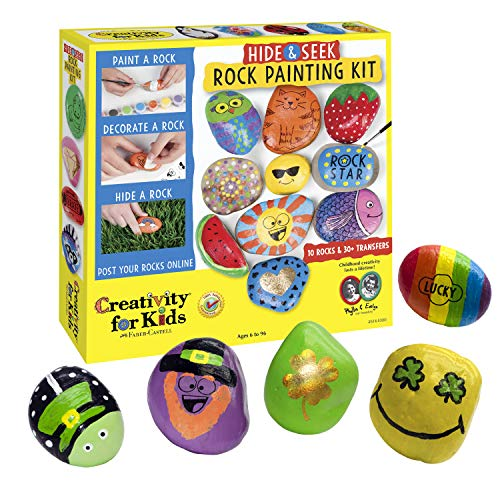 Creativity for Kids Hide amp Seek Rock Painting Kit  Arts amp Crafts For Kids  Includes Rocks amp Waterproof Paint