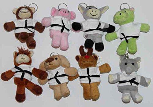 S.B.J - Sportland Schlüsselanhänger mit Kampfanzug Hund, Größe ca. 8 cm