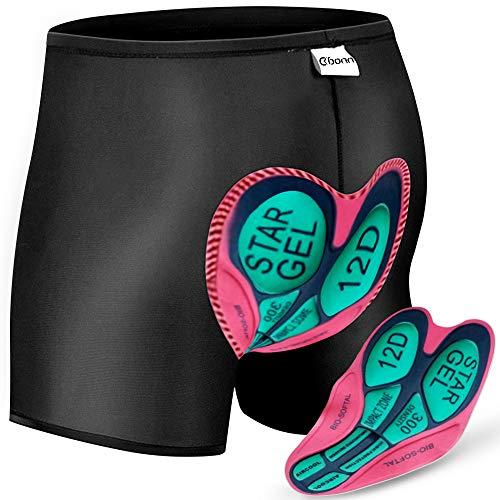 OKBONN Calzoncillos Ropa Interior Ciclismo Pantalones Interiores Ciclismo Pantalones Cortos y Ligeros con 3D Gel