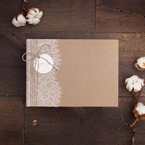 Wedding Album Country Rustic Lace Guest book, Instax Photo Album - by Liumy