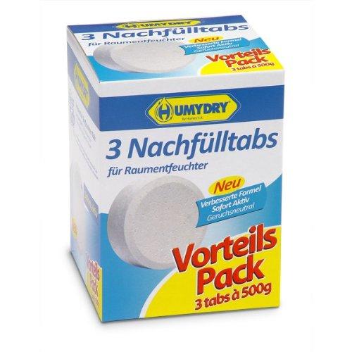 HUMYDRY Nachfüllpackungen TAB 3x500g Neutral für Luftentfeuchter ohne...