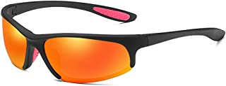 UV Cut UV Cut Fishing Sport Tennis Sunglasses Mens Polarized Lenses Driving Lightweight (Color : Orange, Size : Free)