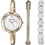 Anne Klein Women's Japanese-Quartz Watch with Alloy Strap, Gold, 5 (Model: AK/2866RQST)