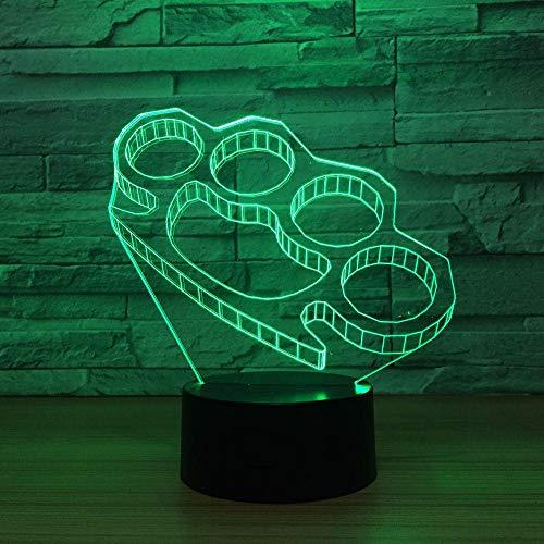 Ilusión 3D luz nocturna táctil LED lámpara de escritorio Pulsera de autodefensa 7 Gradiente de color Control remoto Iluminación Regalos para niños Decoración del hogar