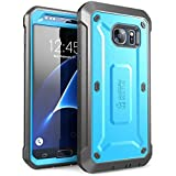 SUPCASE Unicorn Beetle Pro Series Case Designed for Galaxy S7, with Built-In Screen Protector Full-body Rugged Holster Case for Samsung Galaxy S7 (2016 Release) (Blue/Black)