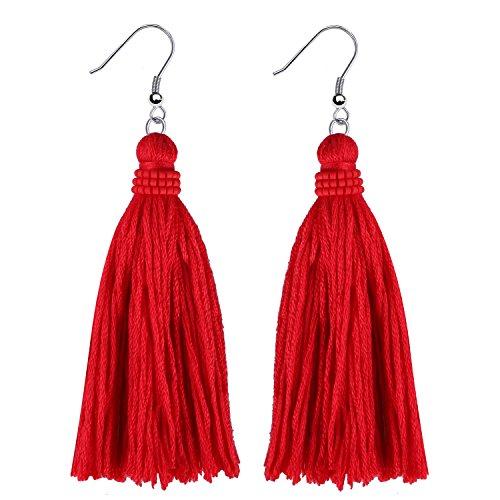 KANYEE Tessal - Pendiente colgante de perlas de concha de perlas de acero inoxidable, piercing de oreja no alérgico, pendientes bohemios de moda para mujeres
