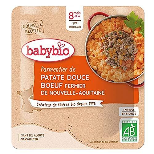 Babybio - Poche Hachis Parmentier avec Bœuf Fermier de Nouvelle-Aquitaine 190 g - 12+ Mois - BIO - Lot de 6