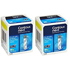 Plastic Package Contains: you will receive 2 boxes of Bayer Contour Next 50ct tests strips (100ct total) Compatible: Bayer Contour Next Blood Glucose Test Strips are compatible with Bayer Next EZ Blood Glucose Monitoring System