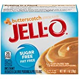 Jell-O Instant Butterscotch Sugar-Free Fat Free Pudding & Pie Filling (1 oz Boxes, Pack of 6)