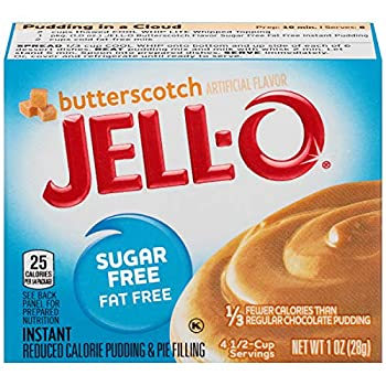 Jell-O Instant Butterscotch Sugar-Free Fat Free Pudding & Pie Filling  1 oz Boxes Pack of 6