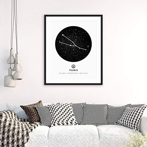Stier afdrukken stier sterrenbeeld Astrologie sterrenbeeld kunst stier sterrenbeeld sterrenbeeld muurkunst stier gift sterrenbeeld stier kunst