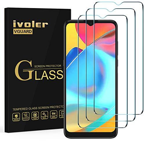 ivoler 3 Stücke Panzerglas Schutzfolie für Alcatel 1S 2021 / Alcatel 3L 2021, 9H Festigkeit Panzerglasfolie, Anti-Kratzen Folie, Anti-Bläschen Bildschirmschutzfolie, Kritall-Klar Hartglas
