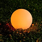 30cm Solarlampen für Außen Kugel,OxyLED 1 Stück 2000 mAh RGB Solarkugel Solar Gartenleuchte IP67 Wasserdicht Solar Gartendeko für Garten Patio Rasen Terrasse Schwimmbad