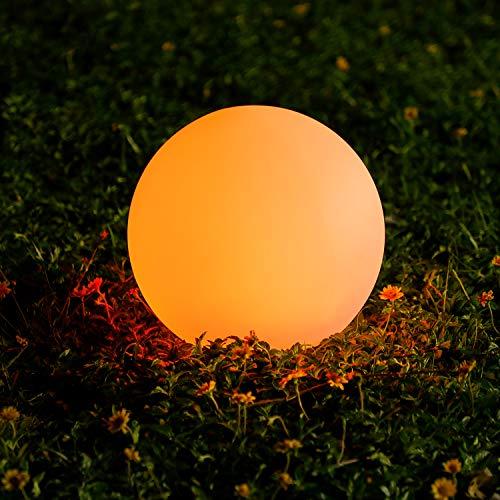 Luce solare per esterno,OxyLED 1 pezzi 30 cm LED Lampada per IP44 impermeabile per esternoper giardino Patio Terrazza Percorso Prato, con 4 modalità con 16 colori