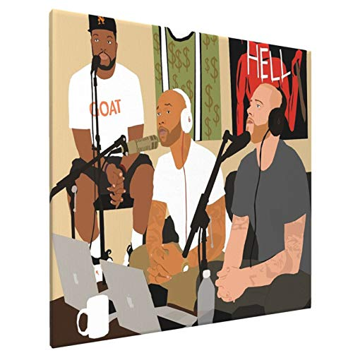"""The Joe Budden Podcast Home Bedroom Decor Wall Art Canvas Prints Artwork Painting Pictures 16""""X16"""""""