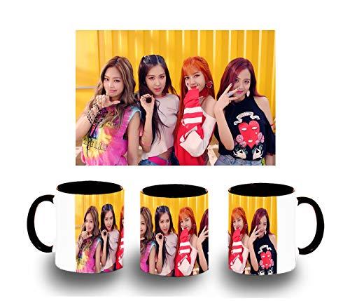 MERCHANDMANIA Taza Negra Blackpink IN Your Area KPOP Color mug