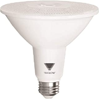 TriGlow T95219 15W (100W Equivalent) PAR38 LED Bulb, Warm White (2700K) 1050 Lumens, 40° Flood, DIMMABLE Light Bulb