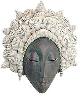 Design Toscano The Seashell Maiden Mermaid Wall Sculpture, Verdigris