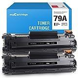 Mycartridge 2 Tóner Compatible HP 79A CF279A para HP Laserjet Pro M12 M12A M12W M26A M26NW M26 (2 Negro)