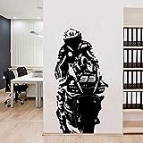HNXDP Große Motorrad Vinyl Wandaufkleber Tapete für Wohnzimmer Home Decoration Aufkleber...