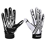 Gonex Football Gloves Adult Mens Receiver Gloves Silicone Grip Adult Sizes for Football Games 1 Pair
