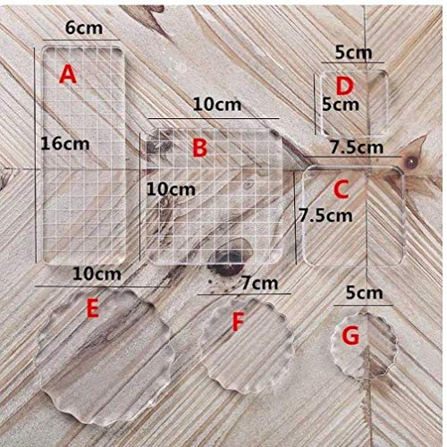 Transparent -Block Pad Griff Blocks Seal Stempel Für Scrapbooking Farbe Stanzprozess Wichtige Tools