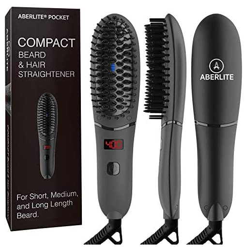 Aberlite Pocket Compact Beard Straightener for Men - For Short Beard & Long Beard - Beard Straightening Heat Brush Comb Ionic - For Home and Travel - 519YnKb0jXL - Aberlite Pocket Compact Beard Straightener for Men – For Short Beard & Long Beard – Beard Straightening Heat Brush Comb Ionic – For Home and Travel
