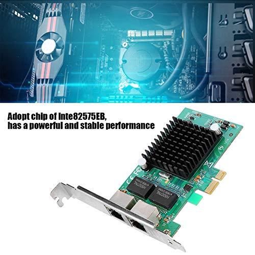 Zerone Ethernet-Netzwerkkarte, Adapter, Netzwerkkarte Gigabit Chip Dual 2 RJ45 Port Intel 82575EB – PCI-E 1000