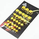 XYHCS 30PCS / Set Motocicleta Modificación Accesorios Principales Tornillo Cubierta Piezas Decorativas (Color : Yellow)