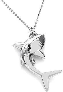 Collier en Bois Pendentif Ajustable Ethnique Femme Homme dauphin poisson
