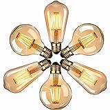 LED Lampadina Vintage Edison, Massway 220V E27 ST64&G80 4W (Equivalente 40W) Edison lampad...