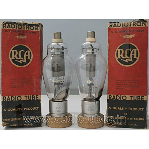 Great Features Of 2X JAN-8005 RCA Made in U.S.A Audio Amplifier Tube