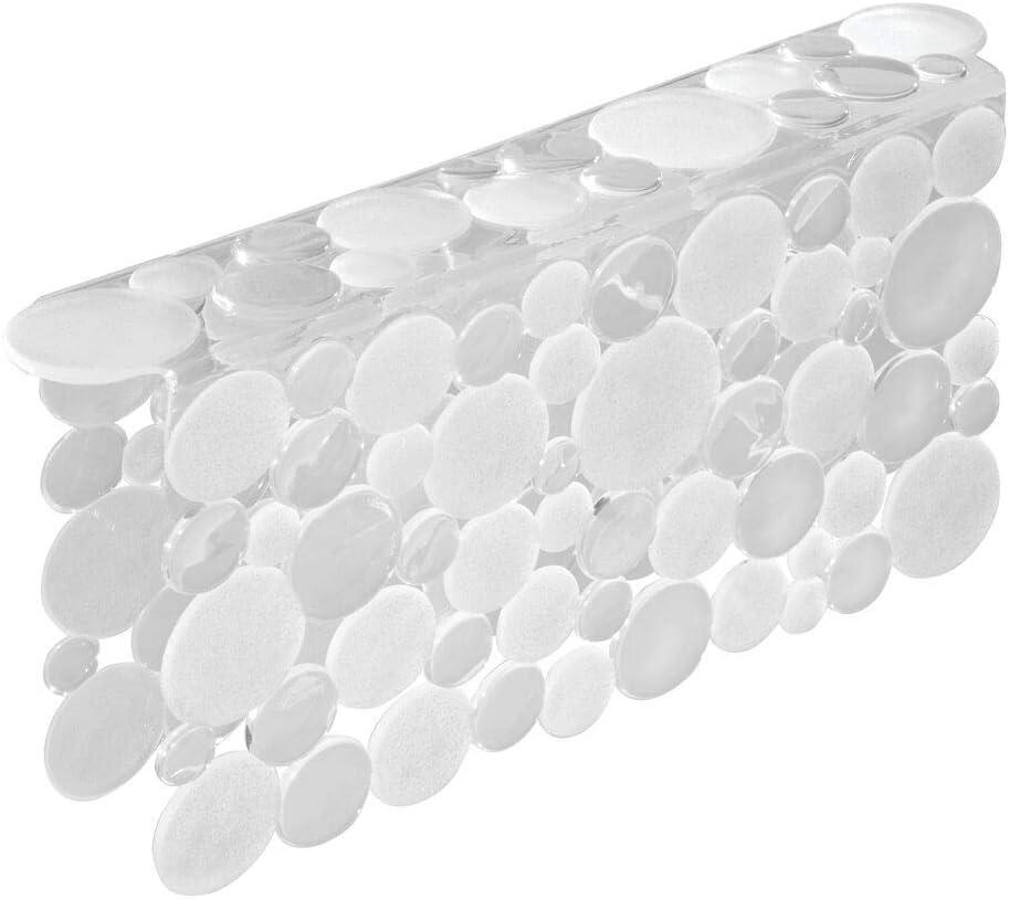 Super popular specialty store mDesign Decorative Plastic Over item handling Kitchen Sink Pr - Saddle Divided