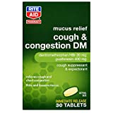 Rite Aid Cough and Congestion DM Tablets - 30 Tablets | Cough Suppressant | Mucus Relief