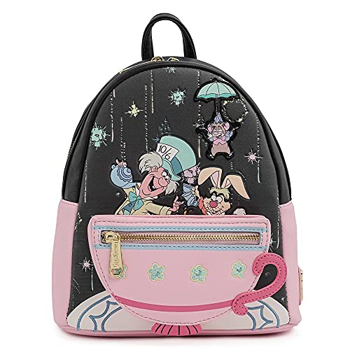 Loungefly Disney Alice in Wonderland A Very Merry Birthday To You Womens Double Strap Shoulder Bag Purse