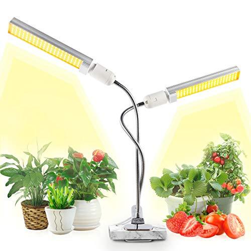 JEVDES Pflanzenlampe für Zimmerpflanzen, 100W Grow Light, LED Pflanzenlichter, Sonnenähnliche Vollspektrum Wachstumslicht, für Sämlinge, die Blühendes Obst Wachsen