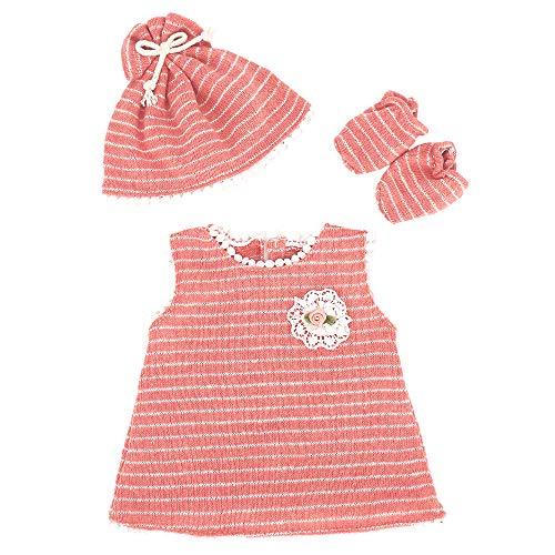 ZWOOS Vestiti per Bambole per New Born Baby Doll, Abitini con Cappello e Calzini per 18   Bambolotti (40-45 cm)