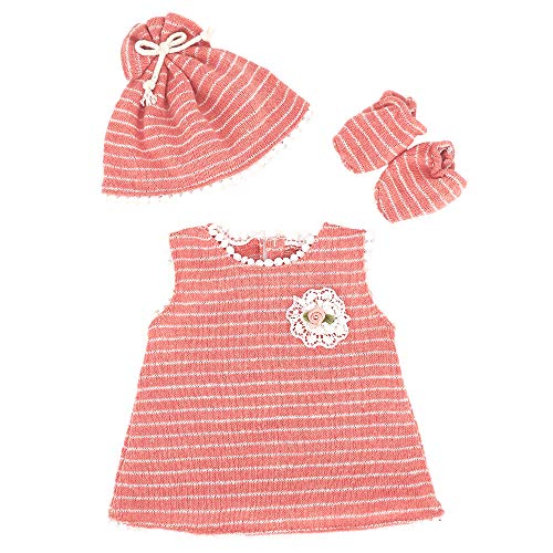 ZWOOS Vêtements de Poupée pour New Born Baby Poupée, Tenue de poupée avec Chapeau et Chaussettes pour Poupée 35-45 cm