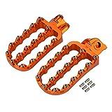 Jiewei Premium Quality Para k.t.m 690 790 950 990 1090 1190 1290 Adventure SuperMoto Super Adv R T T T Enduro SMC SMR Pie Foot Pie Pets Footpegs Rests Pedales Para estrenar (Color : Orange)
