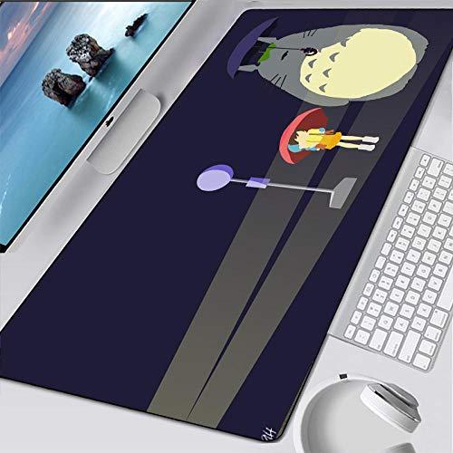 VancyTop alfombrilla de ratón grande Dibujos animados, japón, animación, personaje 900x400x3mm Alfombrilla de extensión de mesa de juego alfombrilla de goma antideslizante con borde de costura alfombr