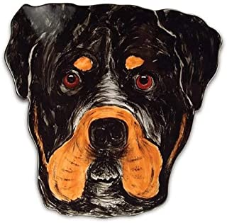 Pavilion Rescue Me Now Rottweiler Ear Plate, George, 10-Inch
