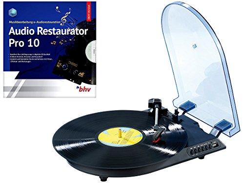 Q-Sonic LP digitalisieren: USB-Plattenspieler mit autarkem Recorder UPL-345.d + Software (Platten Digitalisierer)