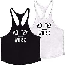 JoofEric Men's Bodybuilding Stringer Y-Back Gym Tank Tops Workout Fitness Vest