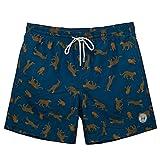 TY.OLK Traje de baño de Secado rápido para Hombre, Pantalones Cortos de Playa de Verano con Forro de Malla y Bolsillo, Traje de baño, Pantalones Cortos de natación para Voleibol