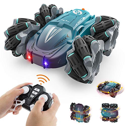 Growsland Remote Control Car for Boys - RC Stunt Cars for Kids Rechargeable Drift Cars Toys Double Sided 360°Rotating 45°Drift Remote Control Truck with Headlights Xmas Gifts Age 4 5 6 7 8-16 Year Old