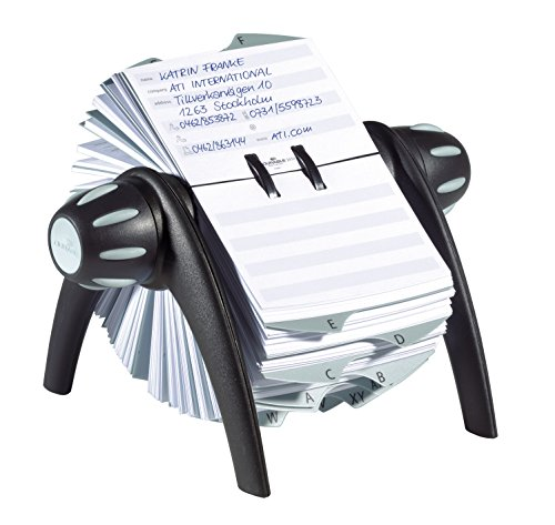 Price comparison product image DURABLE TELINDEX,  Black Flip Rotary Address Card File,  500 Double-Sided Cards,  25 Alphabetical Dividers (241601)