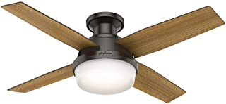 Hunter Dempsey Indoor Low Profile Ceiling Fan with LED...